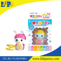 Mini cartoon rabbit children learning toy with colorful light