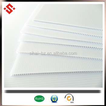 pp packaging 2mm to 5mm plastic corflute sheet for package box