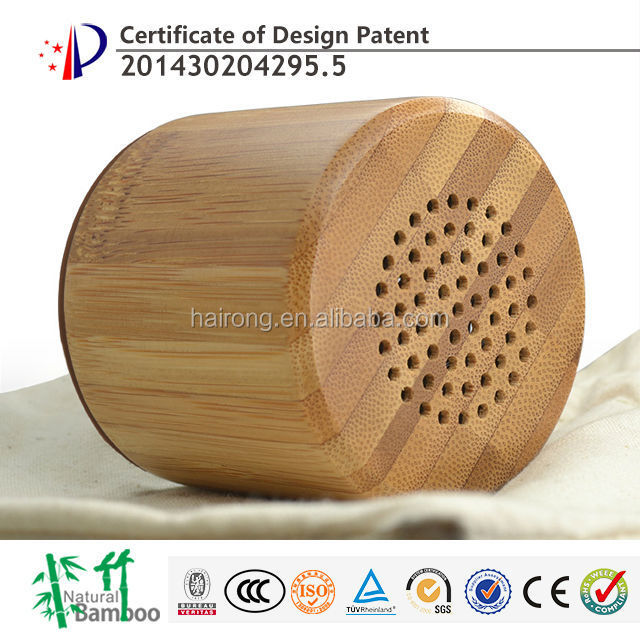 2017 new gadgets bamboo professional portable mini <strong>bluetooth</strong> wireless speaker with subwoofer