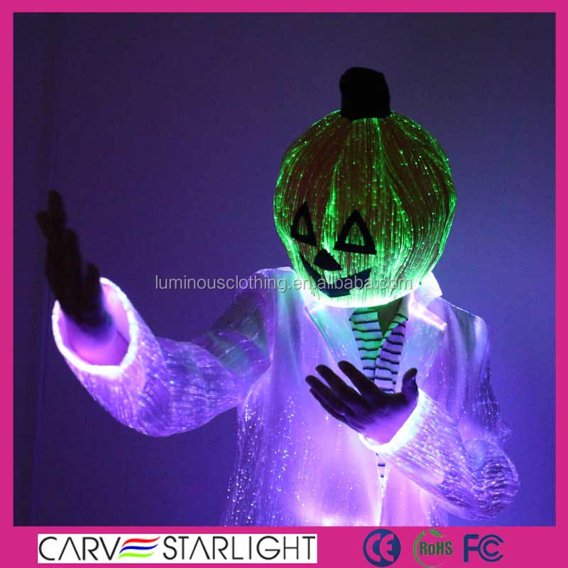 2015 fashion fiber optics holloween decorations pumpkins