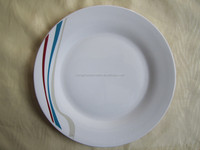 all kinds of plates dishes , american table service style