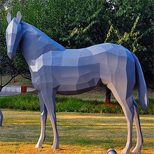outdoor modern life size fiberglass horse model statues for sale