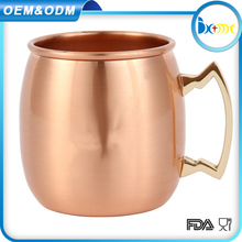 500ml Stainless steel Moscow mule mug in cooper plating