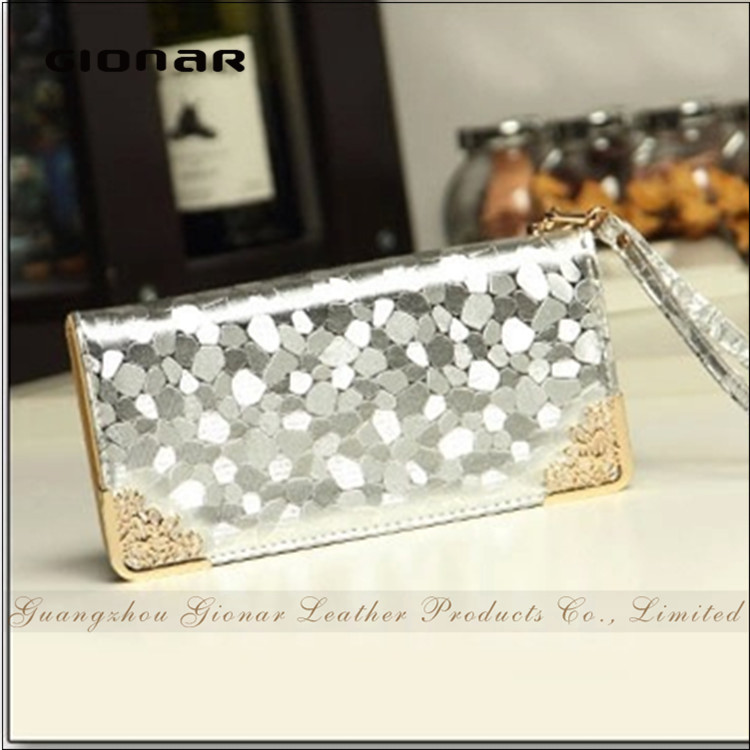 Famous Brand Low Price Ladies Bling Cell Phone Case Secret Wallet