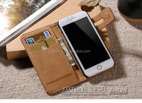 Genuine leather phone case /soft flip cover phone case for iphone 6