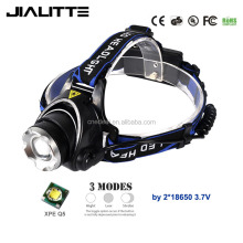Jialitte H003 Waterproof 3 Watt XPE Q5 1000Lm Zoomable Headlamp Led Hiking Headlight manufacturer