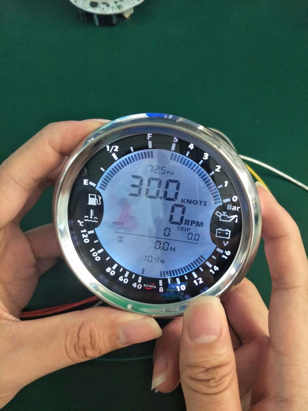 New 6 In 1 Multi Functional Gauge Meter Gps Speedometer Tachometer Speedometers Speed Sensor Vdo 37912847678053419 3 8