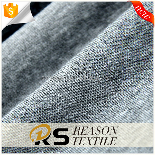 Factory hot sales 50% polyester 38% cotton 12% rayon knitted jersey fabric