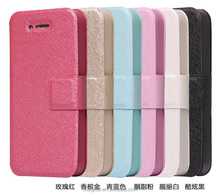 QWD wholesale premium for iphone4 color leather mobile phone case flip cover phone case for iphone4s