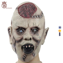 Halloween Horror Skull Masks Whole Latex Headgear Burst Brain Mask