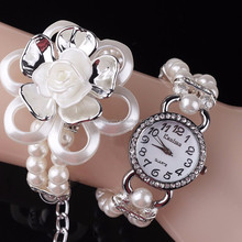 Lotus pearl diamond bracelet watch fashionable ladies watches BWL046