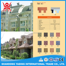 Color mahogany goethe of single layer asphalt shingle tile roof