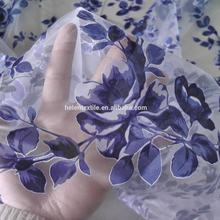 Burned-out fabric, tulle fabric, flower embroideryfabric in stock Burnout