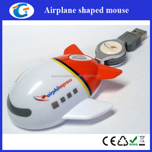 extendable usb cable aeroplane shaped wired mouse