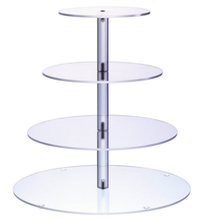 Simple design 5tier round acrylic wedding cake stands plexiglass cupcake display stand
