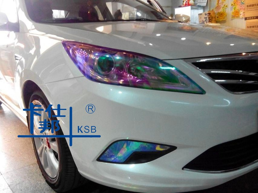 chameleon headlight film,color change car light sticker,decorative film