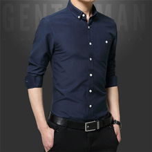 2017 MEN'S HOT SALE OXFORD SPINNING DRESS SHIRT