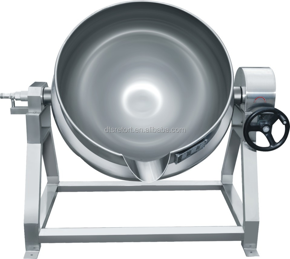 300L tilting and agitating industrial steam cooking pot