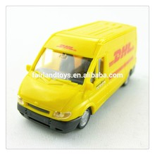 YL7201 OEM without interiors van toy car model,mini van model toy,full plastic DHL van model