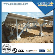 10kw Solar panel ground mount aluminum rack / support with ground screw