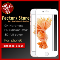 Brand GNS 3D full cover 2.5D 9H Mobile Phone Tempered glass screen protector for iPhone6/ tempered glass for iPhone6