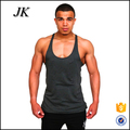 Custom cheap plain tank top black stringer gym vest for men
