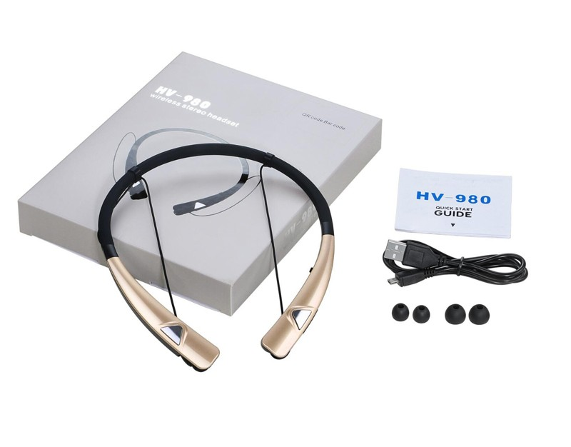 Hot selling product 2016 neckband headphones wireless HV-980