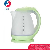 1.8L Potobelo Plastic Eletric Whistling Tea Water Electric Kettle