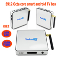 Amlogic S912 OTT TV Box Streaming Box yoka tv kb2 Dual Wifi 5.8 Android 6.0 Marshmallow Smart Tv Android Octa Core