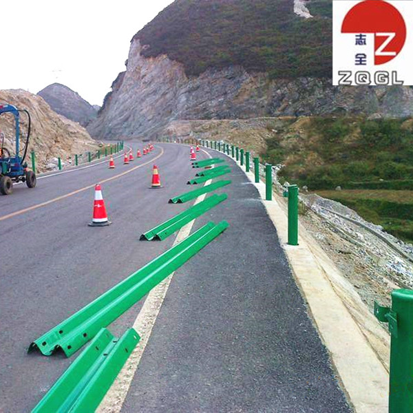 Hot Dipped Galvanized W Beam Highway Guardrail Safety Crash Barrier