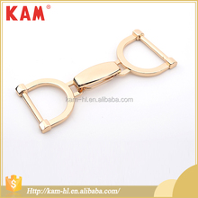 China supplier cheap adjustable gold lock metal bag buckle