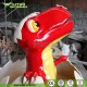 Playground Decoration Cartoon Fiberglass Dinosaur Sculpture