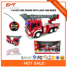 Brand new 1 16 scale 4CH mini rc fire truck toy for sale