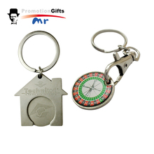 Custom Round Metal Coin Holder Hotel Keychain,Key Ring For Hotel