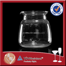 1.8L Decorative Round Glass Canister Set For Coffee