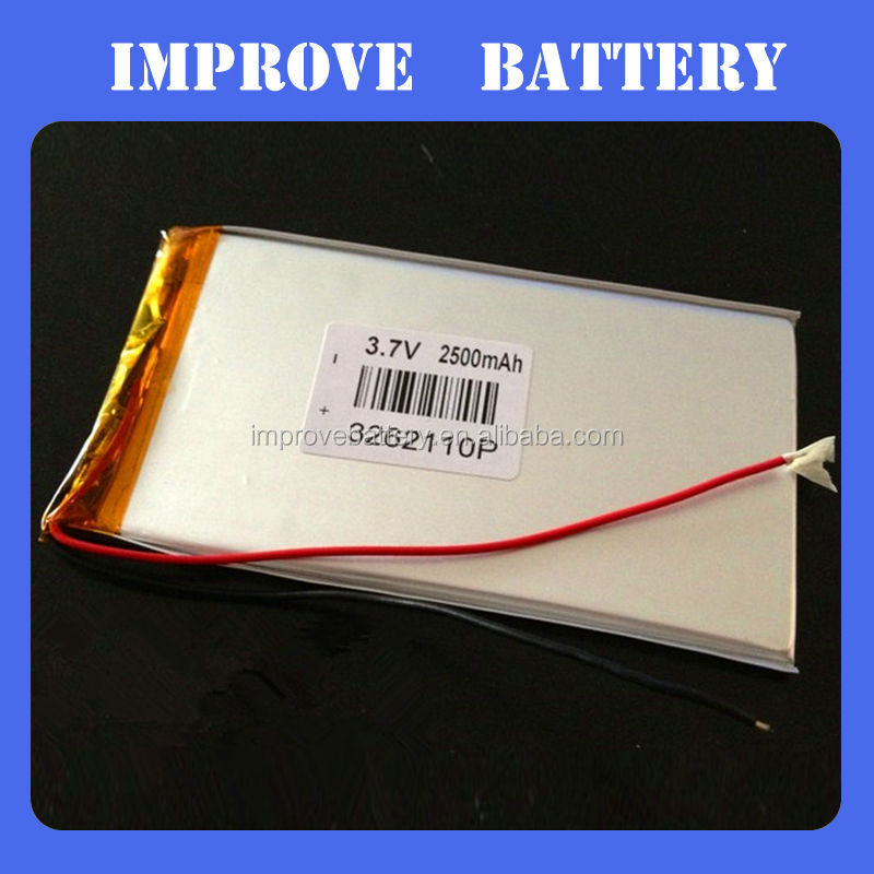 UL/CE approved Chinese supplier 3262110mm 3.7v 3000mah lipo battery for gps tracker MID PDA