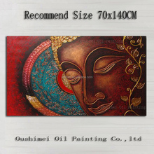 Handcraft Modern Artwork High Quality Handmade Buda Oil Paints On Canvas Abstract Buda Portrait Oil Painting For Wall Decoration