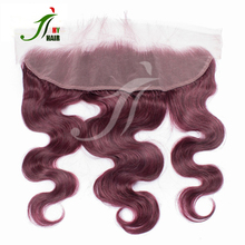 New Arrival brazilian hair cheap lace closure red remy body wave hair with closure human hair weave with frontal closure