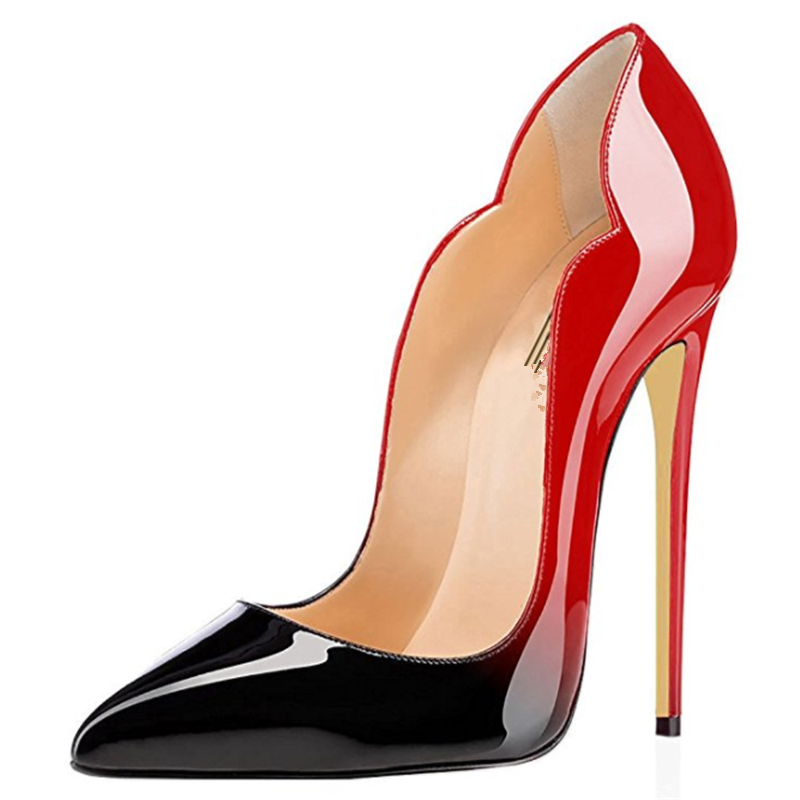 Women's Sexy Point Toe High Heels Patent Leather Pumps Wedding Dress Shoes