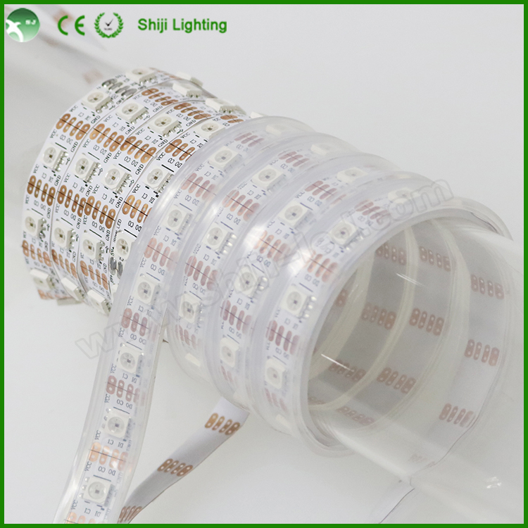 Dc5v color changing outdoor lights low voltage APA102C LED flexible digital addressable led pixel tape