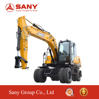 SANY SY155 15 Tons Small rc Hydraulic Excavator for Sale Mini Wheel Excavator