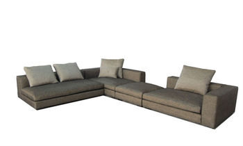 sofa metal frame Flannel Living Room Sofa Furniture Corner Sofa L Shaped Fabric Sofa Designer Furniture 9109-3