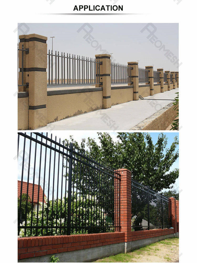 High Quality High Security Fence Design for Industrial Zone,Palisade/steel bar fence/decorative metal fencing