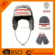 2015 canada embroidery winter fur trapper hat