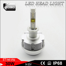 3000K , 6000K, 8000K CE and ROHS Certification with 30W 3600LM instead of D1S ocsram led headlight for toyota fielder