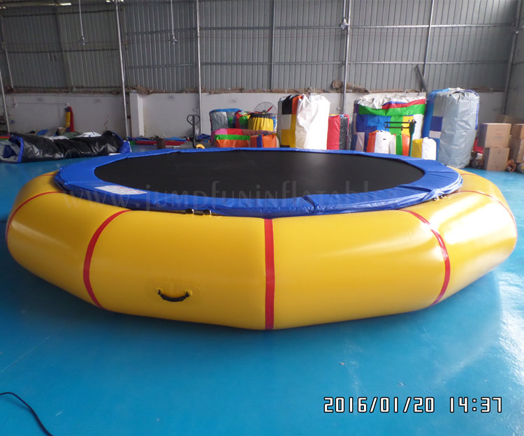 Diameter 6m Inflatable Trampoline adults aqua jumping,Large Water Trampoline 20ft water fun sports