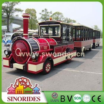 2018 NEW outdoor sightseeing amusement park ride trainless train