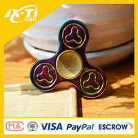 2017 colorful fidget hand spinner zinc alloy fidget spinner with 606 hybrid ceramic bearing