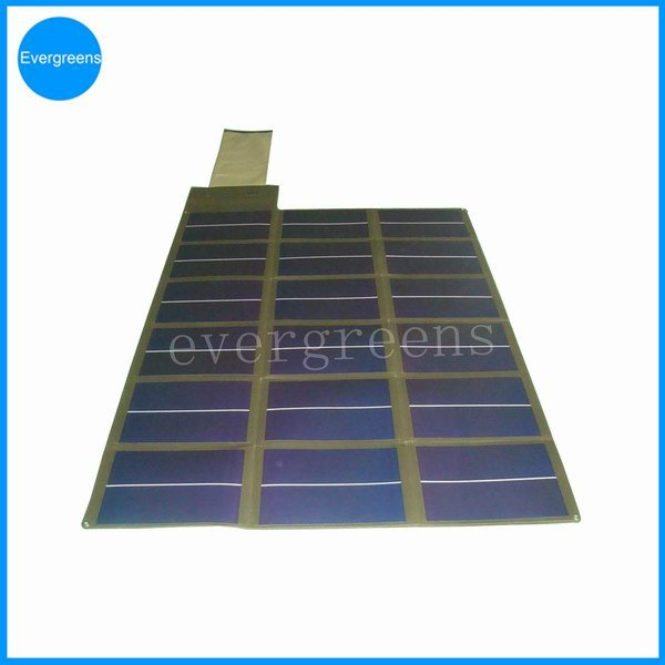 Folding amorphous solar charger, 150 watt solar panel