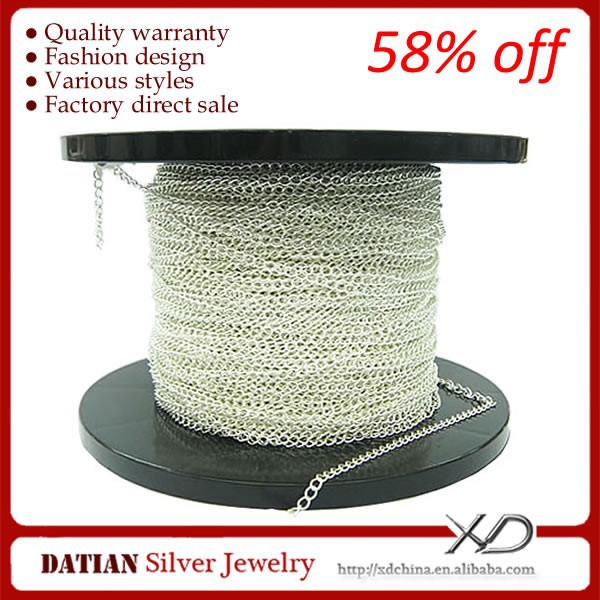 XD XS003 Factory Wholesale Endless 925 Sterling Silver Roll Jewelry <strong>Chain</strong>